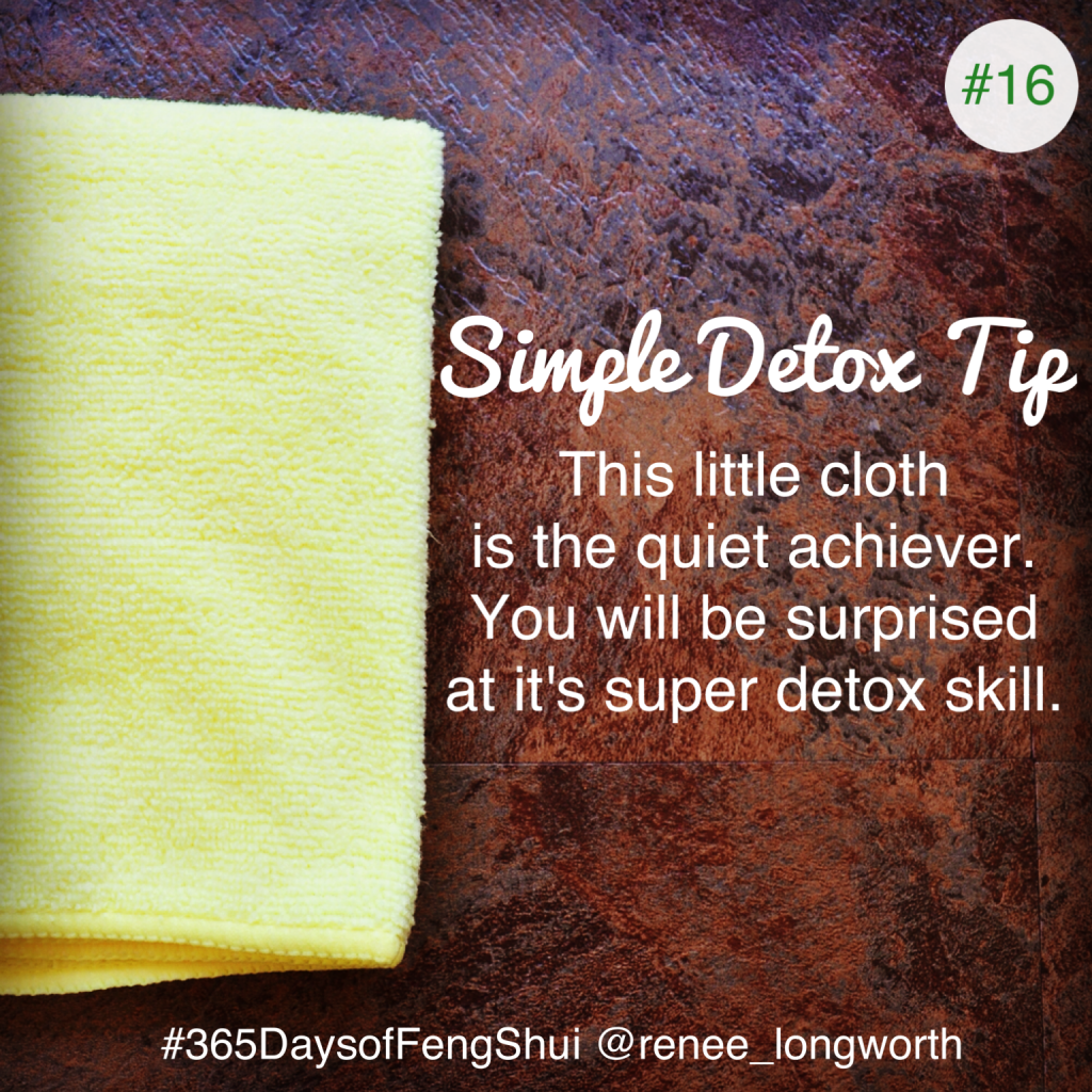 Day#11 365 Days of Feng Shui - Microfibre cloth