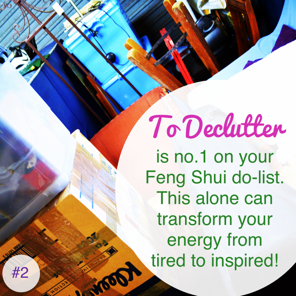 Declutter - day 2 of 365 days of feng shui