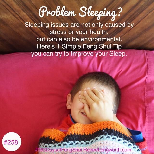 problem sleeping? feng shui