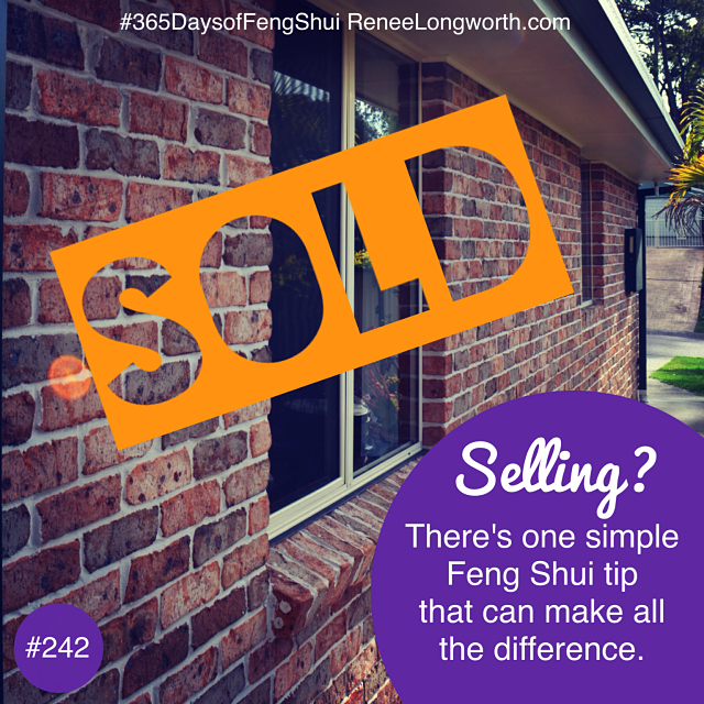 One Simple Feng Shui Tip to help Sell Your Home Quickly.